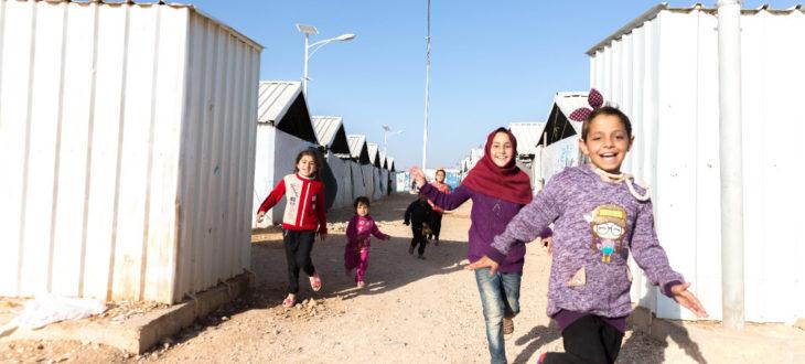 ヨルダンの難民キャンプに暮らす子どもたち